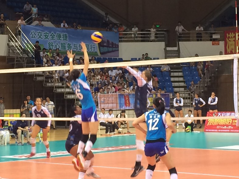 """<p>The Pac-12 Women's Volleyball All-Stars try to put away Fujian in their <a href=""""http://pac-12.com/article/2014/06/21/pac-12-all-star-team-wraps-first-stop-china-tour-3-1-record"""" target=""""_blank"""">match Saturday in Sanming</a>.</p>"""