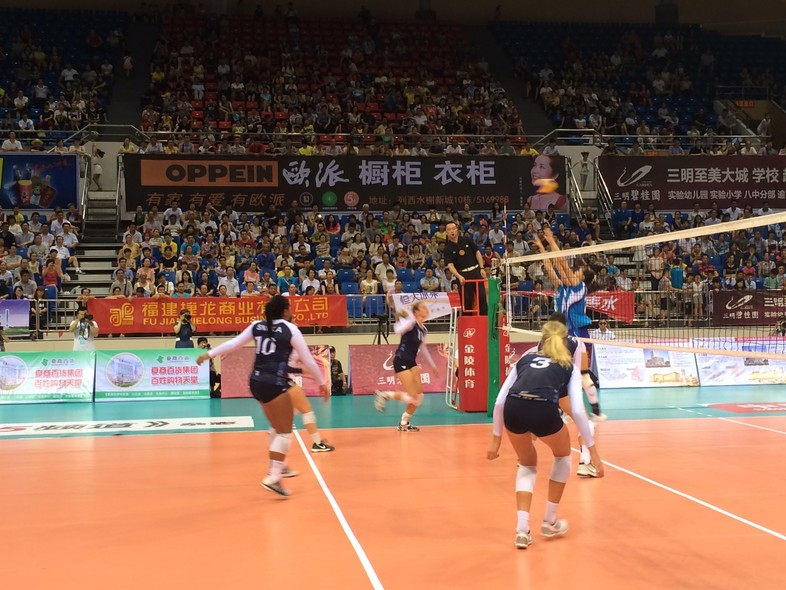 """<p>The Pac-12 all-stars compete against Fujian in front of a packed house <a href=""""http://pac-12.com/article/2014/06/21/pac-12-all-star-team-wraps-first-stop-china-tour-3-1-record"""" target=""""_blank"""">Saturday in Sanming</a>.</p>"""