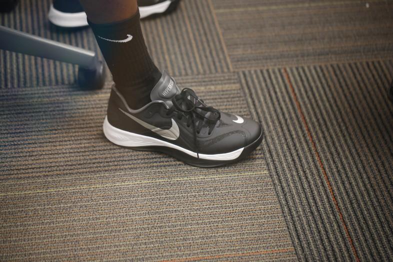 <p>Oregon Ducks senior guard Jonathan Loyd's Nike kicks.</p>