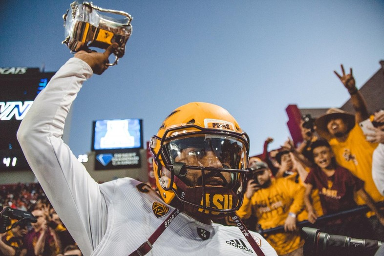 Fork 'Em! Arizona State erased a 19-point deficit in the fourth quarter to defeat Arizona 41-40 in Tucson.