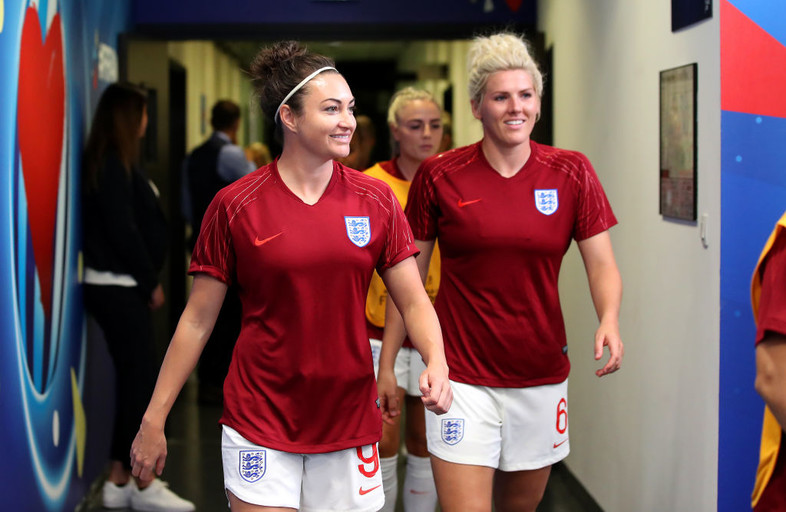June 9: Former Oregon State Beaver Jodie Taylor walks out with teammates before England's 1-0 win over Scotland