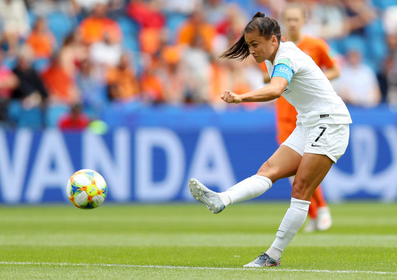 June 11: Former Stanford player Ali Riley turned in a full 90 minutes in New Zealand's group stage game against The Netherlands