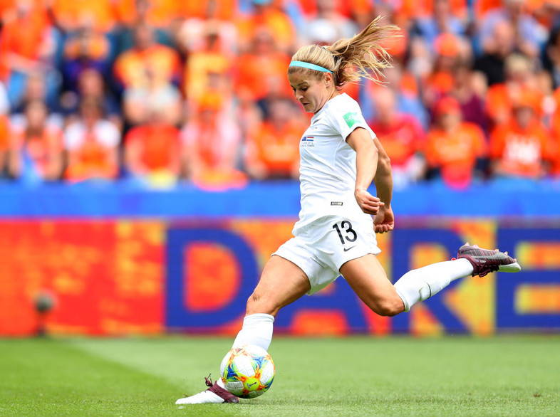 June 11: Former UCLA player Rosie White in action against The Netherlands in group play