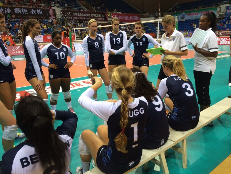 <p>Pac-12 all-star team assistant coaches Stacy Metro and Charita Stubbs handed out some critical advice during Thursday's win over Fujian in Sanming.</p>