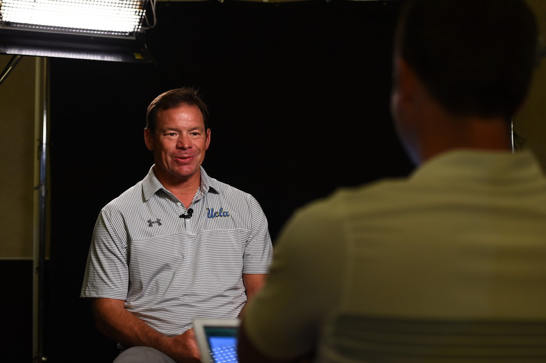 <p>UCLA head coach Jim Mora</p>