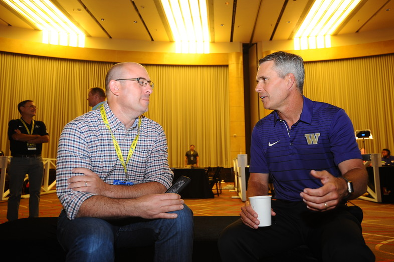 <p>Washington head coach Chris Petersen</p>