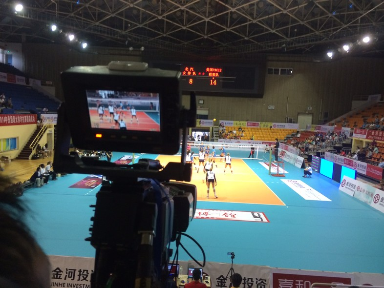 <p>Wednesday's victory for the Pac-12 all-stars over the Beijing professional team was broadcast locally on Beijing TV.</p>