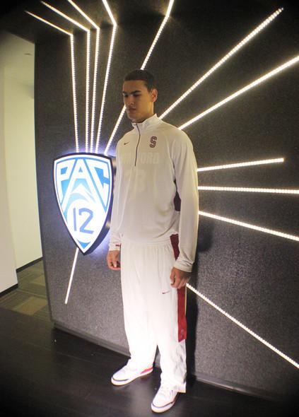 <p>Stanford senior forward Dwight Powell rocking his Jordan kicks.</p>