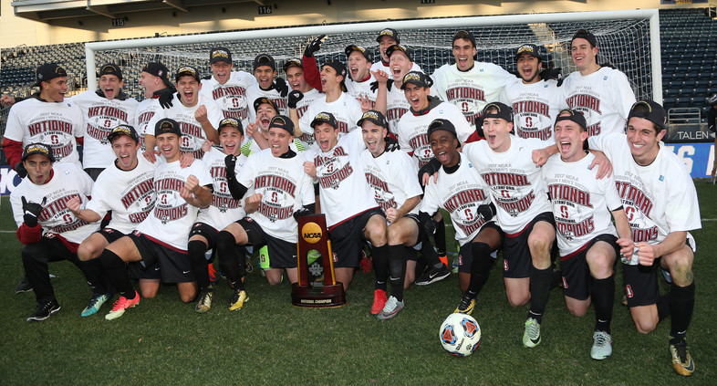 <p>Three-peat! Stanford men's soccer brings home the NCAA Championship for the third-straight year.</p>