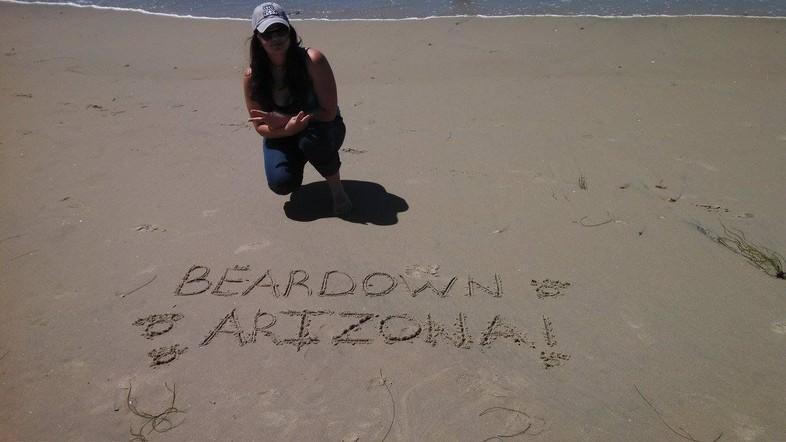 Bearing down at Mission Beach.