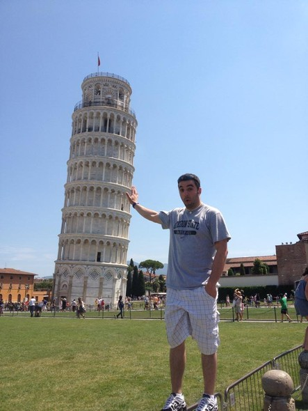 Just an Oregon State fan helping hold up the Leaning Tower of Pisa.