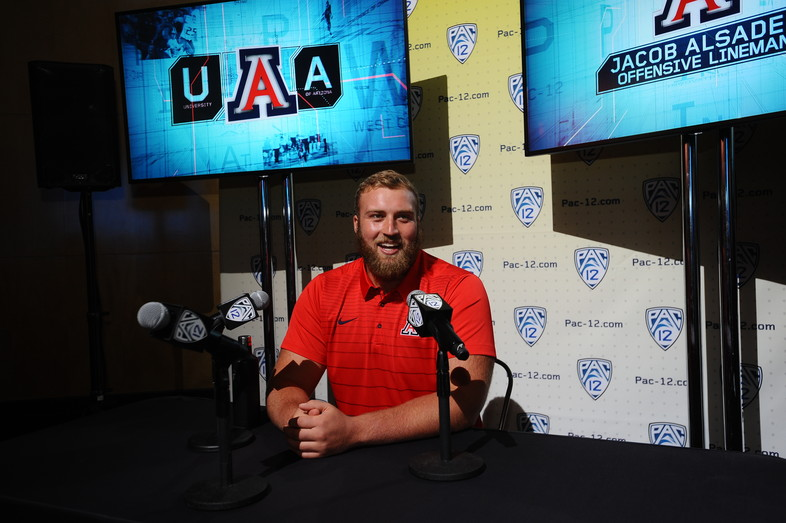 <p>Arizona's Jacob Alsadek</p>