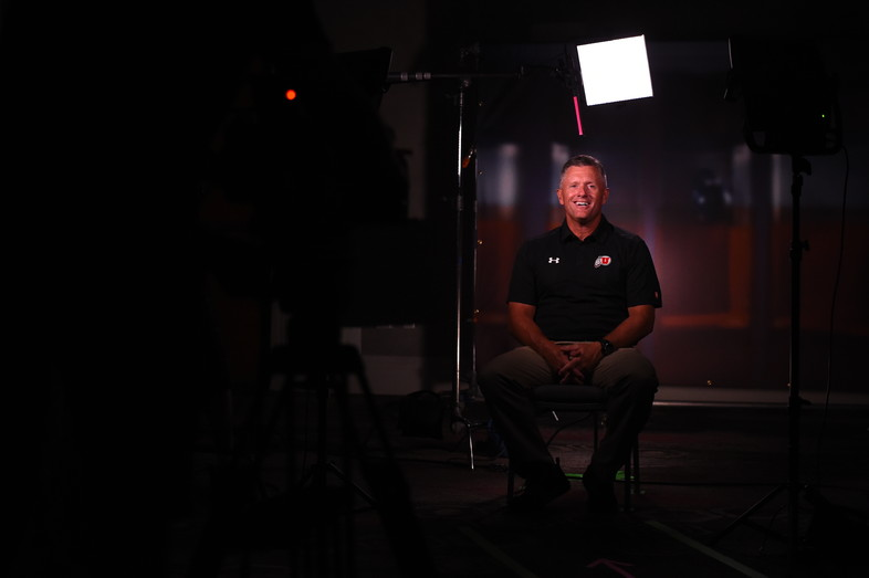 <p>Utah head coach Kyle Whittingham</p>