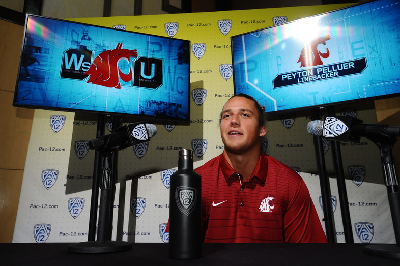 <p>Washington State's Peyton Pelluer</p>