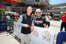 Christian McCaffrey meets a Cardinal fan.