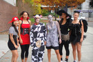 <p>The Huskies women's tennis team changes up their look off the court with a mix of pirates, angels and a few members of the animal kingdom.</p>