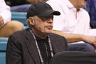 <p>Nike founder and Oregon alum Phil Knight took in the Oregon and UCLA quarterfinal matchup on Thursday.</p>