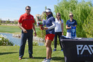 Arizona Athletic Director Dave Heeke awards the 2017 Pac-12 Women's Golf Scholar-Athlete of the Year to U of A's Wanasa Zhou at the Sewailo Golf Course.