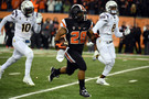 "<ul><li>With 11 minutes left in the game and Oregon State trailing 27-21, <a href=""http://pac-12.com/oregon-state-upsets-asu-sean-mannion-jordan-villamin"">Sean Mannion found Jordan Villamin for a 67-yard touchdown</a></li> <li>The Beavs allowed just three second-half points against Arizona State, using a late <a href=""http://pac-12.com/oregon-state-football-arizona-state-michael-doctor-interception"">Michael Doctor interception return for a touchdown to seal the win</a></li> </ul>"