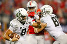 <p>Mariota rushes for a first down.</p>