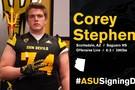 "<p><a href=""https://twitter.com/FootballASU/status/826816991918854145"" target=""_blank"">ASU welcomes Arizona-native Corey Stephens</a> to the Sun Devil family.</p>"