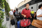 <p>Stanford Linebacker, Shayne Skove, arrives at Sony Pictures Studios for Pac-12 Football Media Day.</p>
