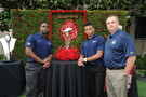 <p>Cal'shead coach, Sonny Dykes,wide receiver, Bryce Treggs, and linebacker, Nick Foebes have their eyes on the prize this season as they pose with the 100th anniversary Rose Bowl trophy.</p>