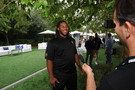 <p>ASU defensive tackle Will Sutton smiles as he takes questions from media Friday at Pac-12 Football Media Day.</p>