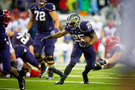 """<p>Heavy wind and rain in Seattle forced Bishop Sankey to rush a school-record 40 times. His 161 yards<a href=""""http://pac-12.com/videos/highlights-washington-football-runs-past-arizona-31-13"""" target=""""_blank"""">pushed Washington to a solid win over Arizona</a>and a 4-0 record for the first time since 2001. Nowit gets really interesting as the Huskies<a href=""""http://pac-12.com/event/2013/10/05/washington-stanford"""" target=""""_blank"""">visit Stanford Stadium</a>next weekend in a matchup of unbeatens.</p>"""