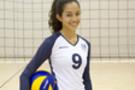 <p>Trojan outside hitter Samantha Bricio sported someunfamiliar threads Sunday at USC's practice facility.</p>