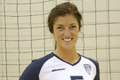 <p>Colorado outside hitter Taylor Simpson was all smiles in her new uniform Sunday at USC.</p>
