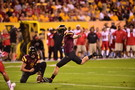 """<p>Arizona State cemented its place as Pac-12 title contendersSaturday, <a href=""""http://pac-12.com/videos/highlights-sun-devils-grind-out-ot-win-vs-utes"""">taking down the Utes in overtime</a>to sit solo atop theSouth Division. Taylor Kelly passed for 205 yards, <a href=""""http://pac-12.com/article/2014/11/02/taylor-kelly-passes-fellow-idahoan-jake-plummer-asu-touchdown-list"""">including a touchdown that moved him past Jake Plummer in the record books</a>. <a href=""""http://pac-12.com/article/2014/11/01/zane-gonzalez-kicks-asu-overtime-win-over-utah"""">Zane Gonzalez's field goal won it in overtime</a>, sending the Utes back to Salt Lake City a game behind in the division. <a href=""""http://pac-12.com/football/event/2014/11/08/oregon-utah"""">Utah now hosts Oregon</a>, while the <a href=""""http://pac-12.com/football/event/2014/11/08/notre-dame-arizona-state"""">Sun Devils look to end Notre Dame'splayoff hopes</a>.</p>"""