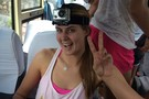 Stanford's Brittany Howard has her GoPro camera strapped on and ready to go for the Great Wall of China visit.