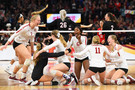 View from the top - Stanford beats Nebraska, celebrates grabbing its eight national championship in program history (the most of all time in NCAA volleyball history).
