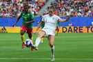 Jodie Taylor of England in action during the 2019 FIFA Women's World Cup France Round Of 16 match between England and Cameroon at Stade du Hainaut on June 23, 2019 in Valenciennes, France.