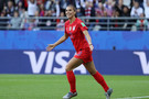 June 11: Cal alum Alex Morgan celebrates after scoring USA's first goal in a match between USA and Thailand in Reims, France.