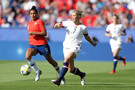 Abby Dahlkemper of the USA passes the ball during the 2019 FIFA Women's World Cup France group F match between USA and Chile at Parc des Princes on June 16, 2019 in Paris, France.