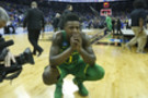 <p>Oregon's Jordan Bell wears his heart on his sleeve after the Ducks fall to North Carolina in the Final Four.</p>