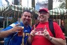UCLA and Utah fans hanging out together in SoCal.