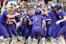 <p>UW softball never disappoints on the celebrations.</p>
