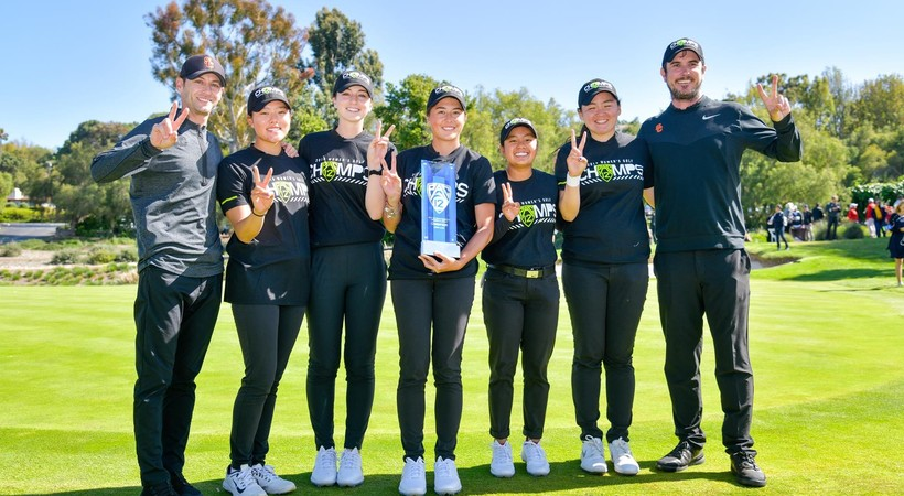 2019 Pac-12 Women's Golf Championships: USC celebrates capturing its first conference title since 2016