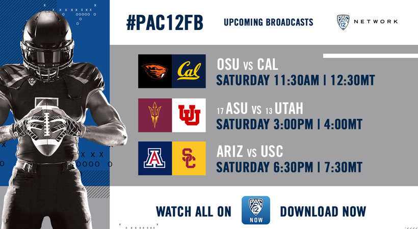 Two ranked powerhouses face off on Pac-12 Network this weekend, with No. 17 Arizona State visiting No. 13 Utah at 3 p.m. PT / 4 p.m. MT