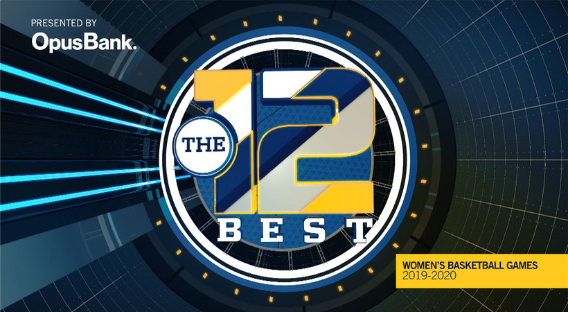 """Pac-12 Networks to air """"The 12 Best,"""" presented by Opus Bank, featuring the top 12 women's basketball games from the 2019-20 season throughout April"""