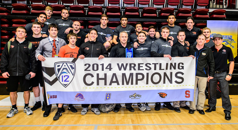 Oregon State secures third straight conference wrestling title, Stanford runner-up