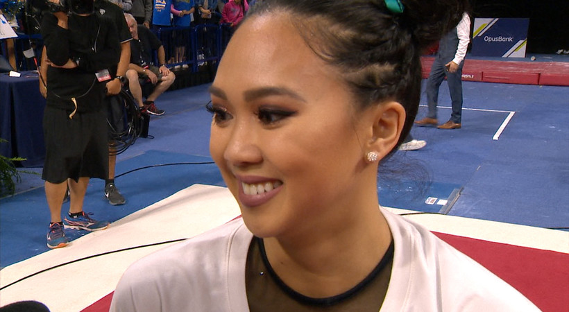 Christine Peng-Peng Lee on UCLA women's gymnastics fighting through adversity at Pac-12 Championships: 'It shows how strong we are'