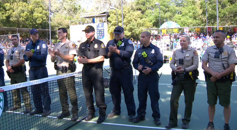 2018 Pac-12 Tennis Championships: Ojai first responders honored for efforts during devastating wildfires