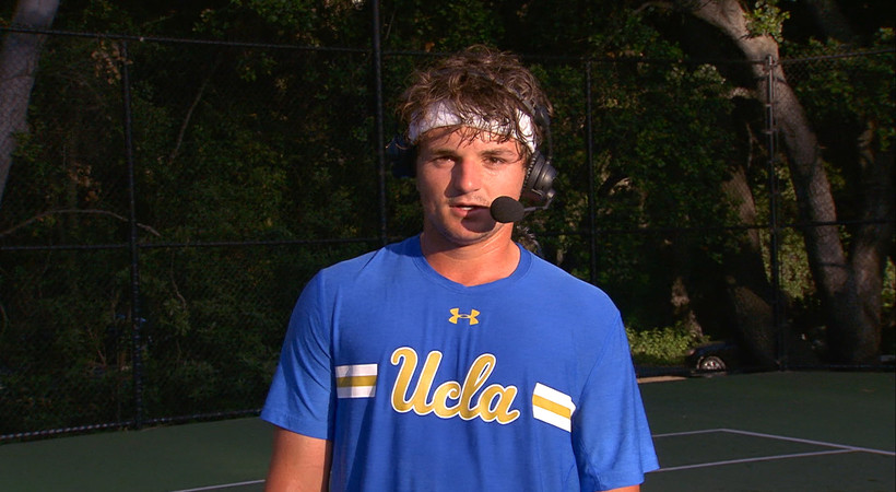 UCLA's Connor Hance calls the Pac-12-clinching match 'the most exhilarating moment of my tennis career'