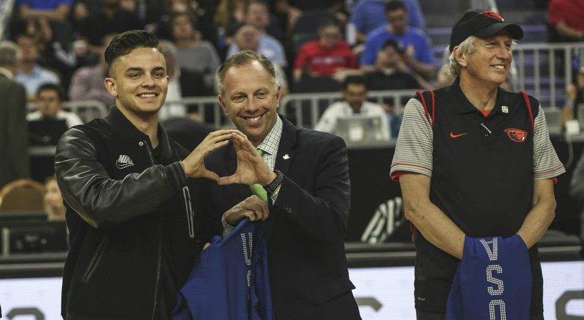 2017 Pac-12 Men's Basketball Tournament: U.S. Olympic team members honor their Pac-12 alma maters