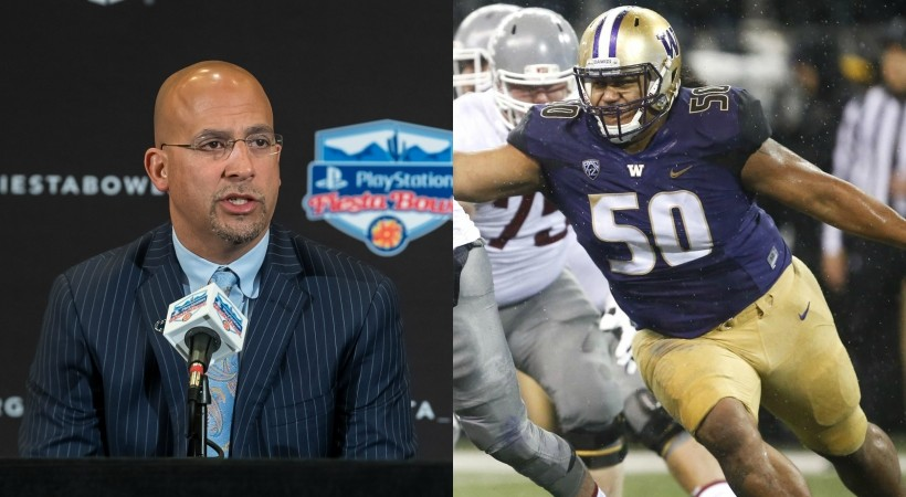 Penn State's James Franklin on avoiding Vita Vea: 'It probably makes sense to declare for the NFL now'