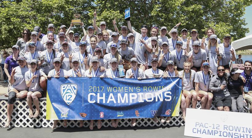 2017 Pac-12 Rowing Championships: Washington women celebrate first Pac-12 title since 2003